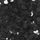 8mm flat Sequin Paillettes Black Suede Effect Velvet Flock Made in USA