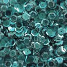 SEQUIN FACET 8mm Cup Loose PAILLETTE ~ Deep Turquoise Teal Metallic ~ USA Made