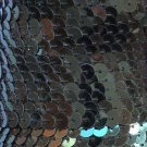 """Deep Forest Green Sequin Trim 6mm 1/4"""" wide stitched, strung by the yard 15'"""
