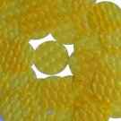 3D Yellow Sequin Round 30mm Dimensional Reflector Paillettes. Made in USA.