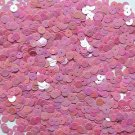 6mm Flat Loose Sequin Paillette Orchid Pink Opaque Rainbow Iris Made in USA