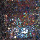 Sequin Trim Black Galaxy Hologram 8mm flat strung by the yard. Made in USA.