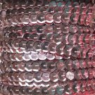 Sequin Trim ~ French Pink Metallic~ 8mm Cup Facet strung by the yard Made in USA