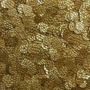 Gold SEQUINS 8mm Flat Loose PAILLETTES ~ Gold Nugget SNAKE SKIN LIZARD effect