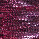 Deep Candy Pink Metallic 5mm cup Sequin Trim Flat Stitched Strung by yard 15'