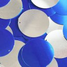 Royalo Blue Silver Sequin Round 1.5 inch Two Sided Large Couture Paillettes