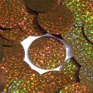 """Brown Round Sequins Glitter Hologram 1.5"""" Large Couture Paillettes Made in USA"""
