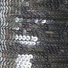 Sequin Stitched Trim 4mm ~ Dark Charcoal Gray Transparent See-Thru ~ Made in USA