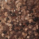 3mm Flat SEQUIN PAILLETTES ~ BRONZE Matte Silk Frost Metallic ~ Made in USA.