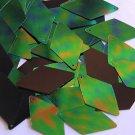 Green Jungle Rainbow Black Sequins Long Diamond 1.75 inch Couture Paillettes