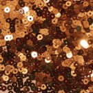 3mm Flat SEQUIN PAILLETTES ~ COPPER Premium Metallic ~ Made in USA.