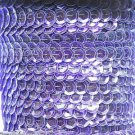 Sequin Trim Plum Purple See Thru 8mm Cup Facet strung by the yard. Made in USA.