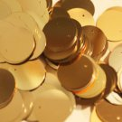 20mm ROUND SEQUIN PAILLETTES ~  GOLD Metallic ~ Flat Sequin Disc Made in USA