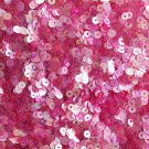 3mm Flat SEQUIN PAILLETTES Loose ~ PINK Rainbow Iris Crystal ~ Made in USA