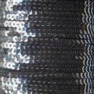 Sequin Stitched Trim 4mm ~ Midnight Ink Blue Transparent See-Thru ~ Made in USA