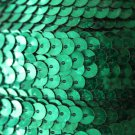 SEQUIN STRING TRIM~  GREEN LASER HOLOGRAM ~ 6mm FLAT strung by yard  Made in USA