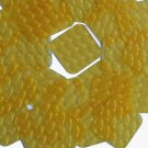 3D Yellow Sequin 30mm Rounded Square Diamond Dimensional Reflector Paillettes