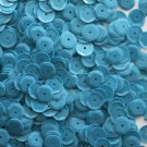 8mm Cup SEQUIN FACET PAILLETTE~ Opaque SKY BLUE ~ Loose Made in USA