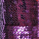 """Purple Metallic Sequin Trim 6mm 1/4"""" wide stitched, strung by the yard 15'"""