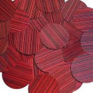 Red Wine Sequin Round 1.5 inch City Lights Reflective Large Couture Paillettes