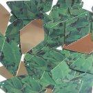 "Long Diamond Sequin 1.75"" Green Burdock Dock Leaf Gold Metallic"