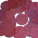 """Cranberry Red Round Sequins Glitter Hologram 1.5"""" Large Couture Paillettes"""