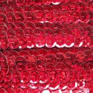 Sequin Trim Red Hologram Rainbow 8mm Cup Facet strung by the yard. Made in USA.