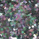 5mm Flat Sequin ~ Black Metallic Rainbow Iris ~ Loose Paillette Made in USA