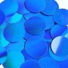"Blue Laser Sheen Reflective Metallic Sequins Round 1.5"" Large Couture Paillettes"