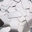 "Rectangle Sequin 1.5"" Pink Silver Chevron Zig Zag Pattern Metallic"