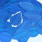 Royal Blue Sequins City Lights Teardrop 1.5 inch Reflective Couture Paillettes