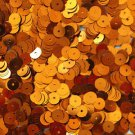 6mm Flat Loose SEQUINS PAILLETTES ~ Metallic ORANGE ~ Round Spangle