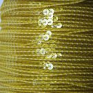 Sequin Stitched Trim 4mm ~ Yellow Transparent See-Thru ~ Made in USA