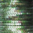 Sequin Stitched Trim 4mm ~ Green Iris Rainbow Iridescent Metallic ~ Made in USA