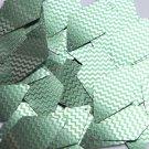"Long Diamond Sequin 1.75"" Green Silver Chevron Zig Zag Pattern Metallic"