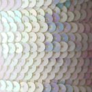 SEQUIN STRING TRIM~  White AURORA PEARL ~ 6mm FLAT strung by yard  Made in USA