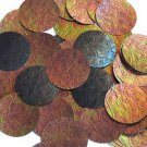 Bronze Iridescent Brown Sequin 1.5 inch Round Tooled Leather Effect Paillettes