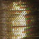 Sequin Stitched Trim 4mm ~ Gold Iris Rainbow Iridescent Metallic ~ Made in USA