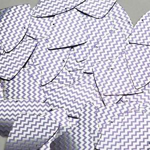 """Fishscale Fin Sequin 1.5"""" Purple Silver Chevron Zig Zag Pattern Metallic"""
