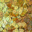 6mm Flat SEQUIN PAILLETTES ~ Premium GOLD HOLOGRAM Metallic ~ Made in USA