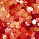 6mm Flat SEQUIN PAILLETTES ~ CORAL PINK CRYSTAL Rainbow Iris Iridescent ~ USA