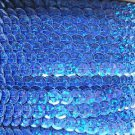 Sequin Trim Royal Blue Hologram 8mm Cup Facet strung by the yard. Made in USA.