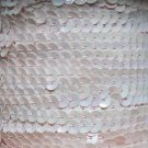 Pale Pink Rainbow Iris 5mm cup Sequin Trim Flat Stitched Strung by the yard 15'