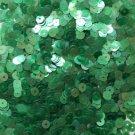 5mm Flat SEQUIN PAILLETTES ~ Soft EMERALD GREEN Rainbow Iris Crystal ~ Made USA