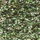 Cup Sequin 6mm Loose Green Metallic Iris Rainbow Iridescent Pink Tint