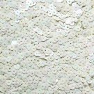 4mm Flat SEQUIN PAILLETTE Loose ~ Pale Opaque Cream Yellow Rainbow ~ Made in USA