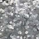 5mm Flat Sequin ~ Silver Matte Silk Frost ~ Loose Paillette Made in USA