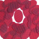 3D Red Oval Sequin 2 inch Dimensional Reflector Sequin Paillettes Made in USA.