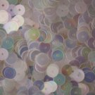 6mm Flat SEQUIN PAILLETTES ~ CRYSTAL IRIS RAINBOW warm hue ~ Made in USA