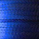 SEQUIN STRING TRIM ~ ROYAL BLUE Matte Frost~ 6mm FLAT strung by yard Made in USA